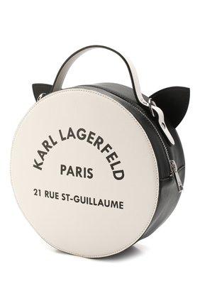 Детская сумка KARL LAGERFELD KIDS черного цвета, арт. Z10078 | Фото 2