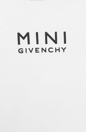 Детское комплект из 3-х предметов GIVENCHY белого цвета, арт. H98072 | Фото 2