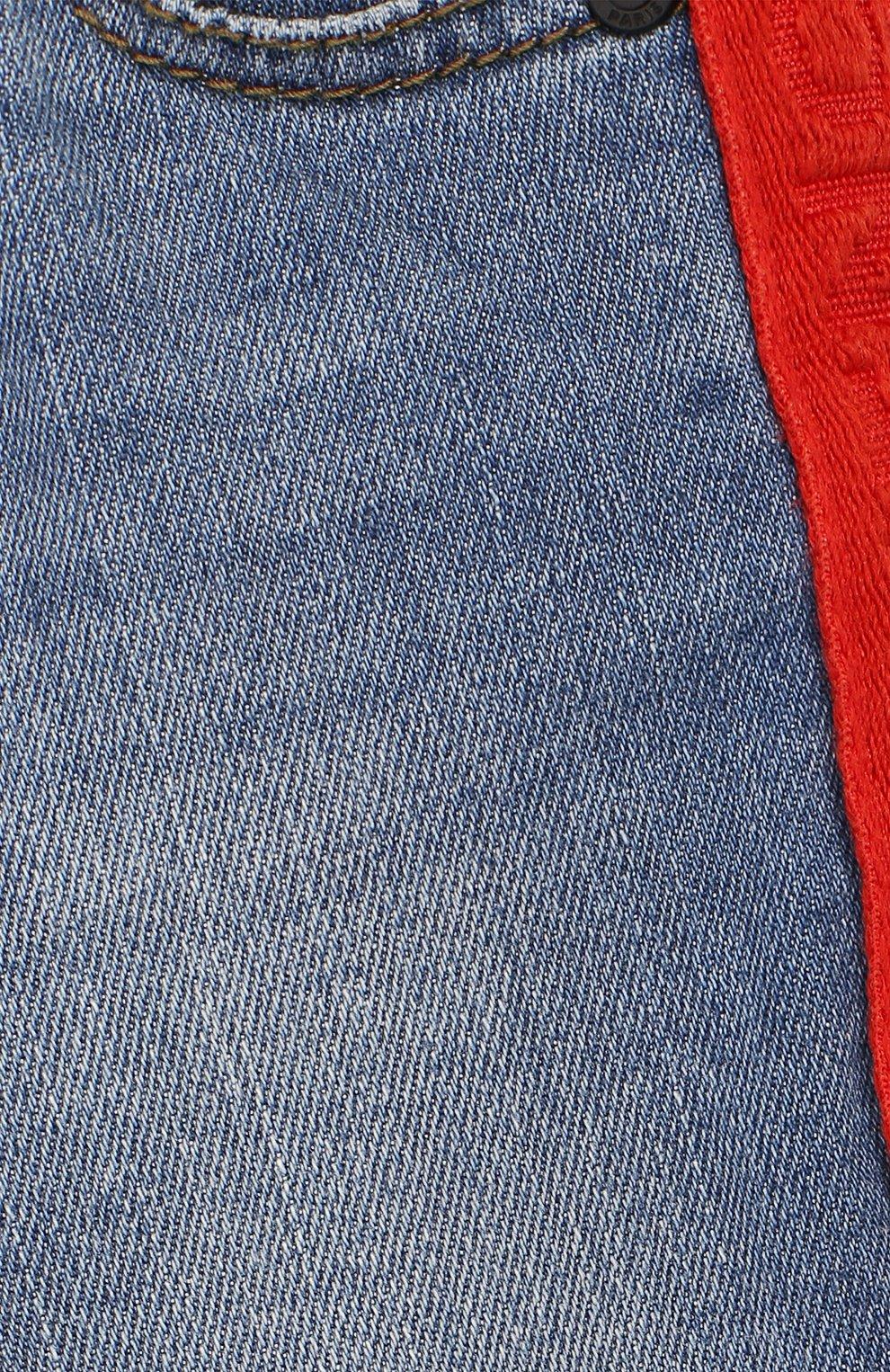 Детские джинсы GIVENCHY синего цвета, арт. H04068   Фото 3