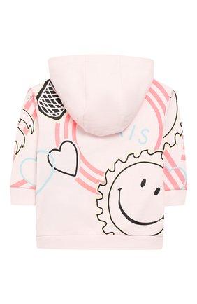 Детский хлопковая толстовка KENZO розового цвета, арт. KQ17027 | Фото 2