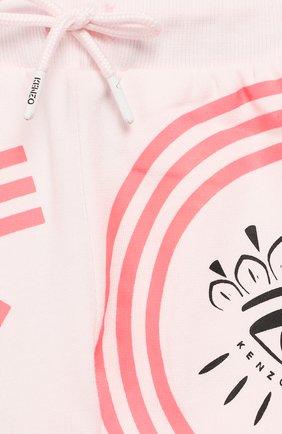 Детские хлопковые джоггеры KENZO розового цвета, арт. KQ23007 | Фото 3