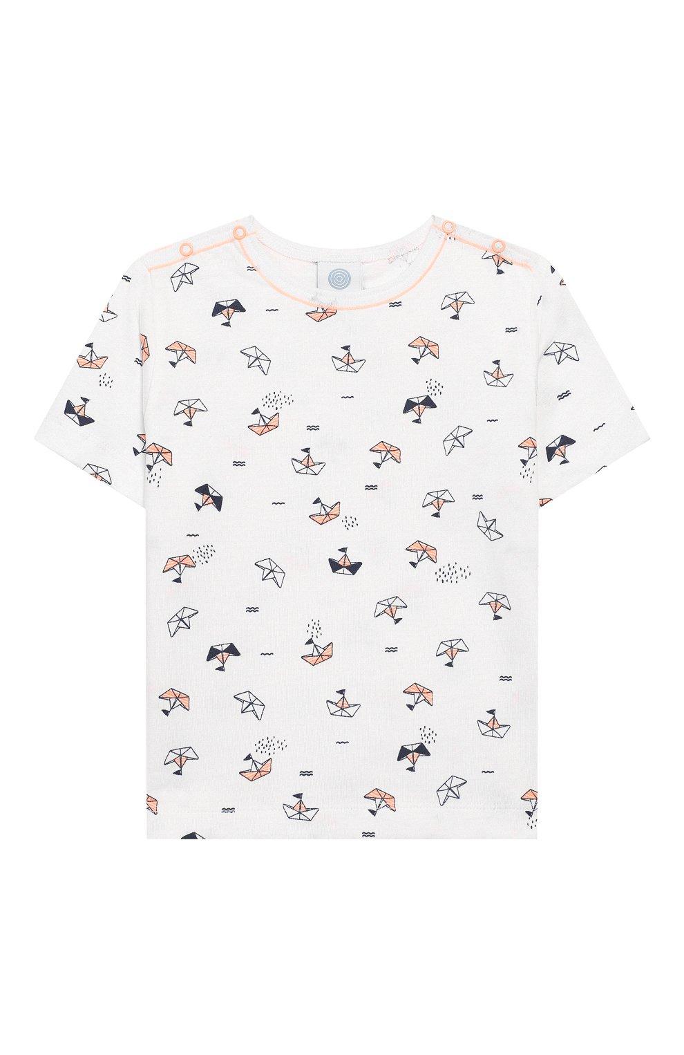 Детский хлопковая пижама SANETTA белого цвета, арт. 221536 0010 | Фото 2
