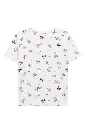 Детский хлопковая пижама SANETTA белого цвета, арт. 221536 0010 | Фото 3