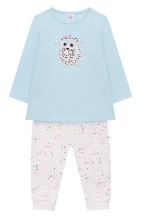 Детский хлопковая пижама SANETTA разноцветного цвета, арт. 221530 5632 | Фото 1