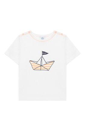 Детский хлопковая пижама SANETTA белого цвета, арт. 221538 0010 | Фото 2