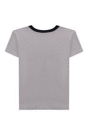 Детская хлопковая футболка LA PERLA серого цвета, арт. 67364/2A-6A | Фото 2