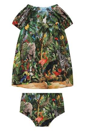 Женский комплект из платья и шорт DOLCE & GABBANA зеленого цвета, арт. L22DI9/G7W0E | Фото 2