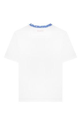 Детская хлопковая футболка MARNI синего цвета, арт. M002MY-M00HX | Фото 2