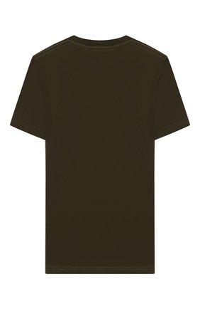 Детская хлопковая футболка DSQUARED2 хаки цвета, арт. DQ03W6-D00W5 | Фото 2