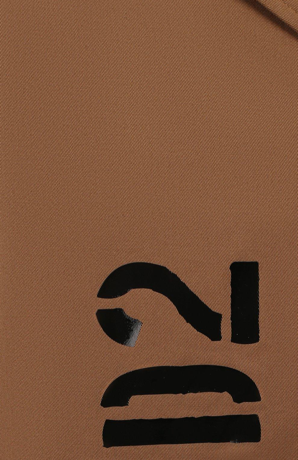 Детский хлопковый тренч DSQUARED2 бежевого цвета, арт. DQ03VR-D00XC | Фото 3