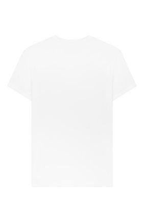 Детская хлопковая футболка ERMANNO SCERVINO белого цвета, арт. 46I TS05 JEA/4-8 | Фото 2