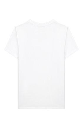 Детская хлопковая футболка BALMAIN белого цвета, арт. 6M8741/MX030/12-16 | Фото 2