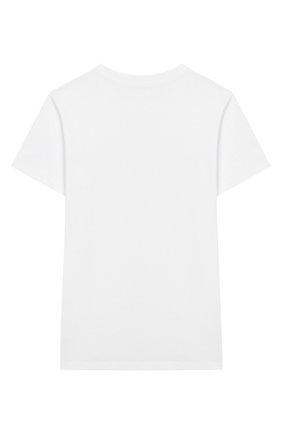Детская хлопковая футболка BALMAIN белого цвета, арт. 6M8741/MX030/4-10 | Фото 2