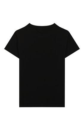 Детская хлопковая футболка BALMAIN черного цвета, арт. 6M8561/MX500/12-16 | Фото 2