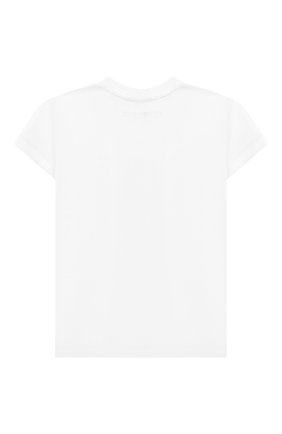 Детская хлопковая футболка TWINSET белого цвета, арт. 201GJ2317/6A-10A | Фото 2