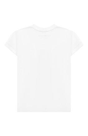 Детская хлопковая футболка TWINSET белого цвета, арт. 201GJ2317/12A-16A | Фото 2