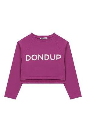 Детский укороченный свитшот DONDUP фиолетового цвета, арт. YF052/FY0010/047 | Фото 1