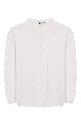 Детский хлопковый пуловер DONDUP белого цвета, арт. YM272/MY0020/XXX | Фото 1