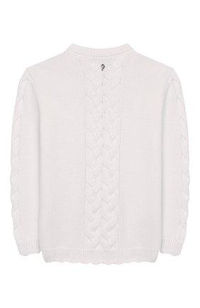 Детский хлопковый пуловер DONDUP белого цвета, арт. YM272/MY0020/XXX | Фото 2