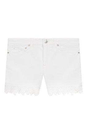 Детские джинсовые шорты DONDUP белого цвета, арт. YP319/BSE027/PTDW | Фото 1