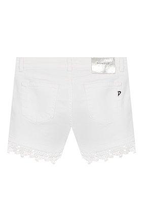 Детские джинсовые шорты DONDUP белого цвета, арт. YP319/BSE027/PTDW | Фото 2