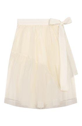 Детская шелковая юбка UNLABEL белого цвета, арт. VI0LETSKIRT/03-IN001/8A-10A | Фото 1