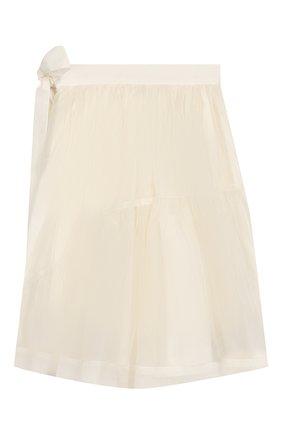 Детская шелковая юбка UNLABEL белого цвета, арт. VI0LETSKIRT/03-IN001/8A-10A | Фото 2