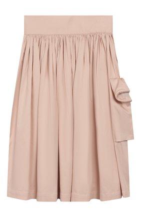 Детская хлопковая юбка UNLABEL светло-розового цвета, арт. MAGN0LIA-3/12-IN002/12A-16A | Фото 1