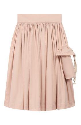 Детская хлопковая юбка UNLABEL светло-розового цвета, арт. MAGN0LIA-3/12-IN002/8A-10A | Фото 1