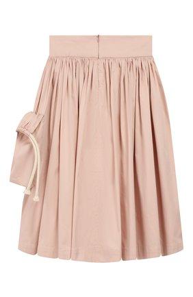 Детская хлопковая юбка UNLABEL светло-розового цвета, арт. MAGN0LIA-3/12-IN002/8A-10A | Фото 2