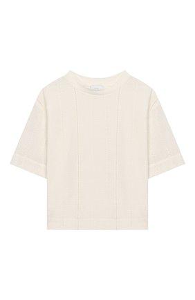 Детская хлопковая футболка UNLABEL белого цвета, арт. GARDENIA-3/54-IN008/12A-16A | Фото 1