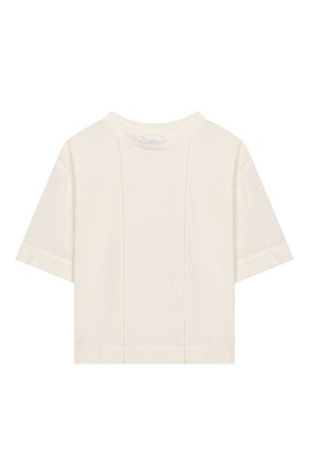 Детская хлопковая футболка UNLABEL белого цвета, арт. GARDENIA-3/54-IN008/8A-10A | Фото 1