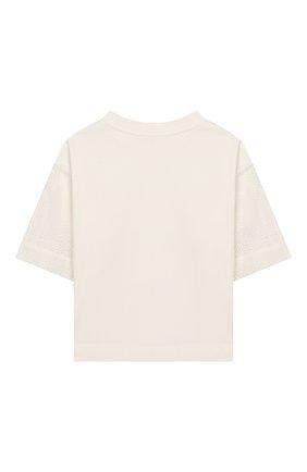 Детская хлопковая футболка UNLABEL белого цвета, арт. GARDENIA-3/54-IN008/8A-10A | Фото 2
