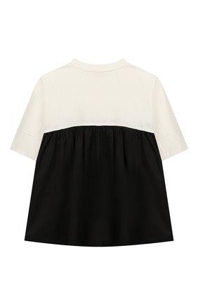 Детская хлопковая футболка UNLABEL черно-белого цвета, арт. DAHLIA-2/53-IN007-A/8A-10A | Фото 2