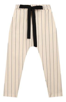 Детского хлопковые брюки UNLABEL бежевого цвета, арт. CARMEL-2/26-IN002/12A-16A | Фото 1