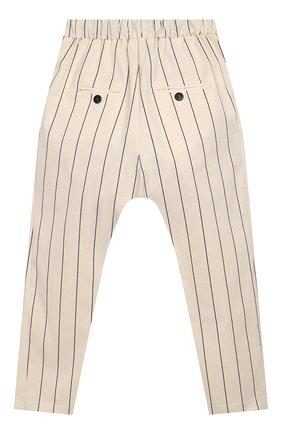 Детского хлопковые брюки UNLABEL бежевого цвета, арт. CARMEL-2/26-IN002/12A-16A | Фото 2