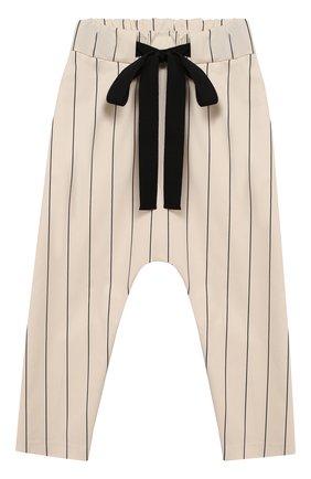 Детского хлопковые брюки UNLABEL бежевого цвета, арт. CARMEL-2/26-IN002/8A-10A | Фото 1