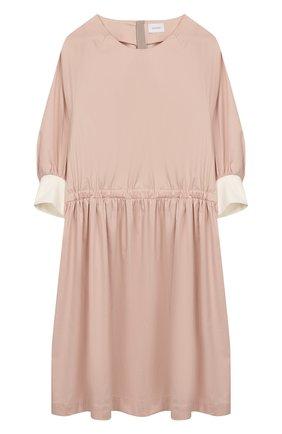Детское хлопковое платье UNLABEL светло-розового цвета, арт. BLUEBELL-1/06-IN002/8A-10A | Фото 1