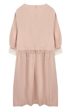 Детское хлопковое платье UNLABEL светло-розового цвета, арт. BLUEBELL-1/06-IN002/8A-10A | Фото 2