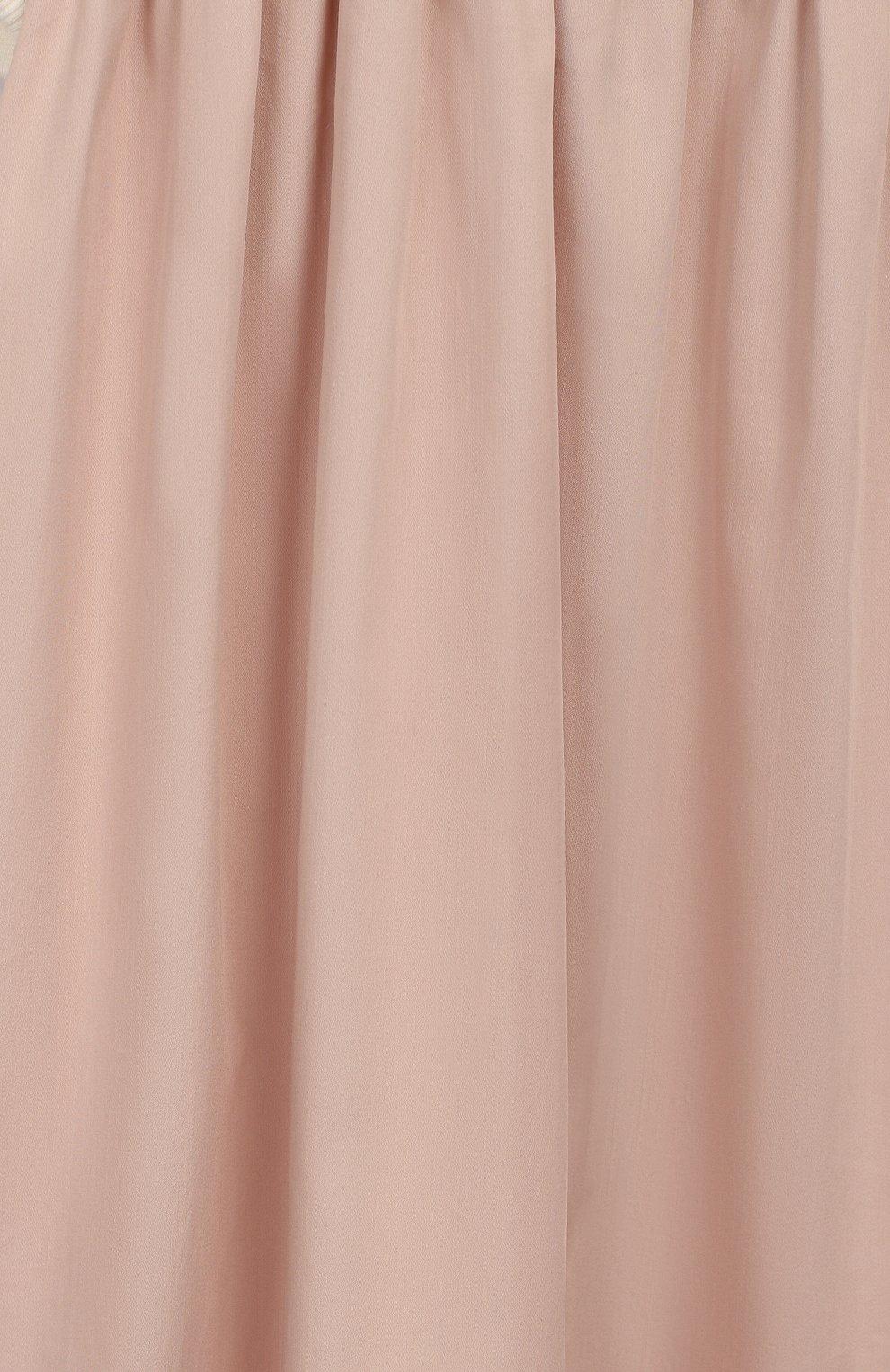 Детское хлопковое платье UNLABEL светло-розового цвета, арт. BLUEBELL-1/06-IN002/8A-10A   Фото 3 (Рукава: Длинные; Принт: Без принта; Случай: Повседневный; Материал внешний: Синтетический материал, Хлопок; Девочки Кросс-КТ: Платье-одежда; Ростовка одежда: 8 лет   128 см)