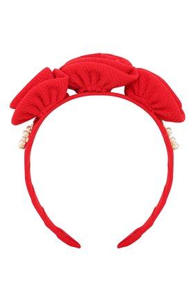 Детского ободок DAVID CHARLES красного цвета, арт. HAIR 881 | Фото 1