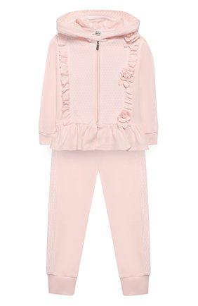 Детский комплект из толстовки и брюк ALETTA розового цвета, арт. RB00127/1M-2A | Фото 1