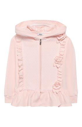 Детский комплект из толстовки и брюк ALETTA розового цвета, арт. RB00127/1M-2A | Фото 2