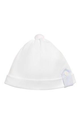 Детского хлопковая шапка ALETTA белого цвета, арт. RC00316 | Фото 1