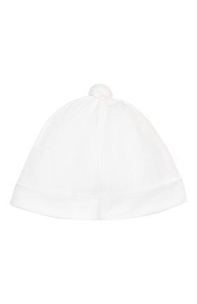 Детского хлопковая шапка ALETTA белого цвета, арт. RC00316 | Фото 2
