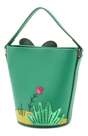 Детская кожаная сумка DOLCE & GABBANA зеленого цвета, арт. EB0006/AB776 | Фото 2