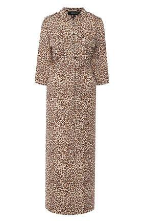 Женское платье с принтом POUSTOVIT леопардового цвета, арт. ss20P-5601 | Фото 1