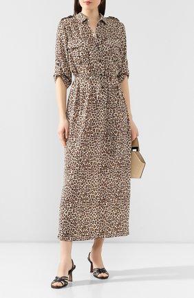 Женское платье с принтом POUSTOVIT леопардового цвета, арт. ss20P-5601 | Фото 2
