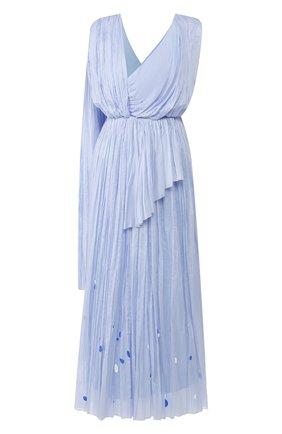 Женское хлопковое платье VIKA GAZINSKAYA голубого цвета, арт. SS20-1383 | Фото 1