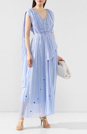 Женское хлопковое платье VIKA GAZINSKAYA голубого цвета, арт. SS20-1383 | Фото 2